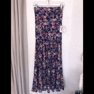 🌼 NWT LuLaRoe Maxi Skirt Purple Pink Floral XXS
